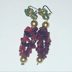 Jewelry - Red Beaded Earrings
